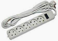 Фото товара Сетевой удлинитель Maxxter SPM5-G-15G с фильтром длина кабеля 4,5м на 5 розеток