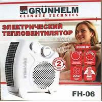 Фото товару Тепловентилятор Grunhelm FH-06 (1000/2000 Вт, 220В)
