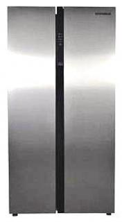 Фото товару Холодильник GRUNHELM GNB-180MLX, 180 см, Side-by-Side, Сірий