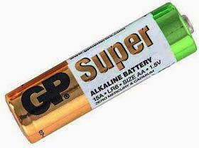 Фото товара Батарейка AA LR6 GP Super Alkaline, 1.5V, (уп.40/2/1), алкалайновая.
