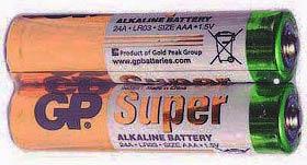 Фото товару Батарейка AAA LR03 GP Super Alkaline, 1.5V, (уп.40/2/1), алкалайнова.