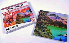 Фото товару Ваги підлогові GRUNHELM BES-MOUNTAINS, скляні, з зображенням гірського озера, 0-180кг