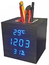 Фото товара Часы электронные сетевые USB VST 878S-5 синяя подсветка
