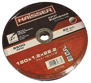 Фото товару Круг відрізний по металу 180х1,6х22,2 мм арт. 4111705 HAISSER