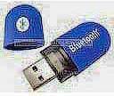 Фото товару Адаптер Bluetooth 2.0 в резиновому корпусі, синього кольору, OEM