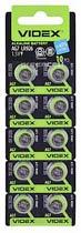 Фото товару Батарейка AG7 Videx, 1.5V, (бл.10/1), Аналог: LR57, LR926, G7, 195, SR927W, GP95A, 395