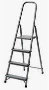 Фото товара Лестница раскладная алюминиевая ITOSS 914 4 ступеньки, рабочая высота 2,9м, длина 1,52м, высота площадки 0,81м, вес 3,7кг