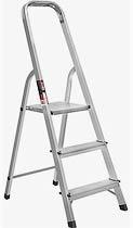 Фото товару Драбина розкладна алюмінієва STARK 403 3 сходинки, максимальне навантаження 150кг