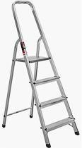 Фото товару Драбина розкладна алюмінієва STARK 404 4 сходинки, максимальне навантаження 150кг