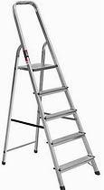 Фото товару Драбина розкладна алюмінієва STARK 505 5 сходинок, максимальне навантаження 150кг