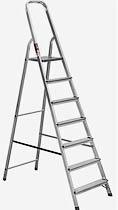 Фото товару Драбина розкладна алюмінієва STARK 507 7 сходинок, максимальне навантаження 150кг