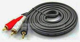 Фото товара Кабель Audio 3.5 мм Male to 2xRCA Male 1,8м