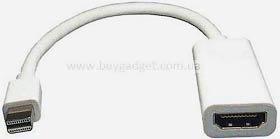Фото товару Кабель mini DisplayPort Male на HDMI Female, 10 см, білий