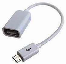 Фото товару Кабель OTG USB 2.0 Female на micro USB Male, RTL, білий