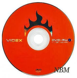 Фото товара Диск DVD-RW Videx 4,7Gb 4x Bulk 50 шт