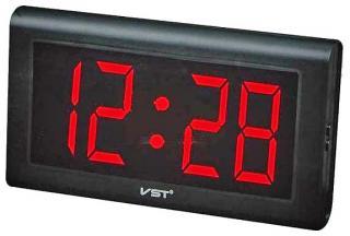 Фото товара Часы сетевые VST-795-1 настенные красные, 220V (Большой дисплей)