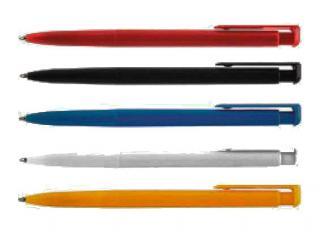 Фото товара Ручка шариковая автомат ECONOMIX 0,5 мм черная , корпус ассорти, (40/1)