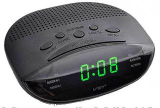 Фото товару Годинник мережевий VST-908-4 салатовий, радіо FM, 220V