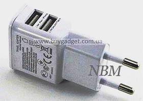 Фото товару Зарядний пристрій 220V на USB, 5V 2.1, OEM