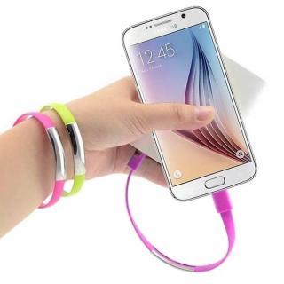 Фото товару Кабель-браслет USB 2.0 Male на micro USB Male, RTL, 20 см, білий