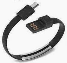 Фото товару Кабель-браслет USB 2.0 Male на micro USB Male, RTL, 20 см, чорний
