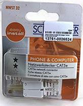Фото товару Мережевий штекер Schwaiger Cat 5e 8-контактні (RJ45)