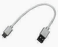 Фото товара Кабель USB2.0 to USB3.1 Type-C, AM/CM, ток 2.4А, 0.2 метра, черного цвета, ОЕМ