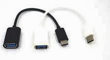 Фото товару Адаптер USB 3.1 Type-C to USB 2.0 (OTG Adapter), белый, черный 20 см, OEM