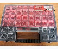Фото товару Органайзер пластиковий з регульованими секціями XL 460 x 325 x 80 Haisser