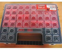 Фото товару Органайзер пластиковий з регульованими секціями Tandem C400 385*283*50 Haisser