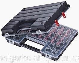 Фото товару Органайзер пластиковий з регульованими секціями Tandem А 400/В 400 Twin 385*283*100 HAISSER