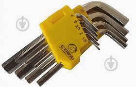 Фото товару Набір ключів шестигранних НЕХ 9 шт. 1,5-10 мм Нм
