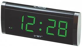 Фото товара Электронные часы VST 730-4 зеленые, с будильником