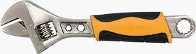 Фото товару Ключ розвідний 150 мм двокомпонентні рукоятки, хромований Сталь