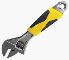 Фото товару Ключ розвідний 250 мм хромований, двокомпонентні рукоятки Сталь