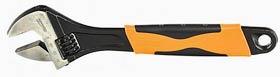 Фото товару Ключ розвідний 300 мм хромований, двокомпонентні рукоятки Сталь