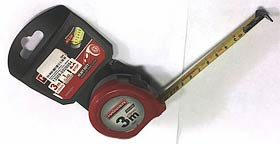 Фото товара Рулетка 3мx16мм , нейлон, пластиковый корпус, 2 стопа, HAISSER