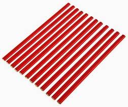 Фото товара Карандаш строительной двухцветный 180мм 12шт. СТАЛЬ