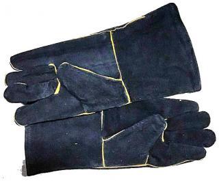 Фото товару Рукавички замшеві, манжет крага, чорного кольору р.11 WERK 2127