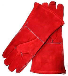 Фото товару Рукавички замшеві, манжет крага, червоного кольору р.11 WERK 2128