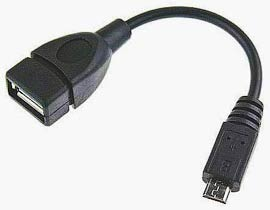Фото товару Кабель OTG USB2.0 Female на mini USB Male, 10 см