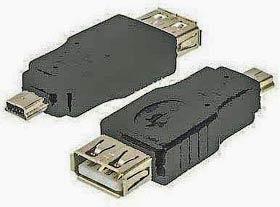Фото товару Адаптер mini USB 2.0 Male на USB Female