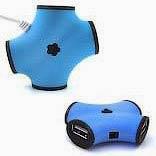 Фото товару HUB USB 2.0 на 4 порти, ОЕМ, синій