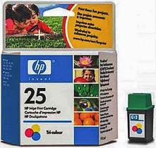 Фото товару Картридж HP №25 (51625A) Color, для: HP DJ 310; 320; 340; 400; 400I; 420c; 500c; 540; 550c; 560c; DW310; DW320; DW340; DW C-540; 550c; 560c; Apollo P-1200; P-1220
