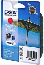 Фото товару Картридж оригінальний Epson Т0443 для Stylus C84, C86, CX6400, 6600 Magenta (C13T04434010) ресурс 450 стор. - підвищеної ємності