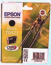 Фото товару Картридж Epson Stylus Photo T0821N Black для: R270; R290; R295; R390; RX590; RX610; RX615; RX690; T50; T59; TX650; TX659; TX700W; TX710W; TX800FW