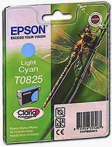 Фото товару Картридж Epson R270/T50/TX650 Light Cyan (C13T11254A) Epson (T0825)