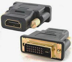 Фото - Адаптер HDMI Female to DVI Male (24+5) gold