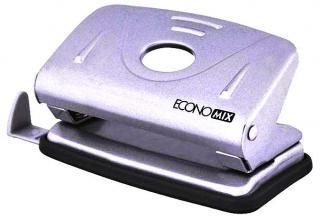 Фото товара Дырокол Economix E40131, металлический, макс.20 листов 80г/м2, корпус с линейкой