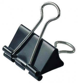 Фото товару Біндер затискач для паперу, ширина біндера 15мм, в упаковці 12шт. Чорний